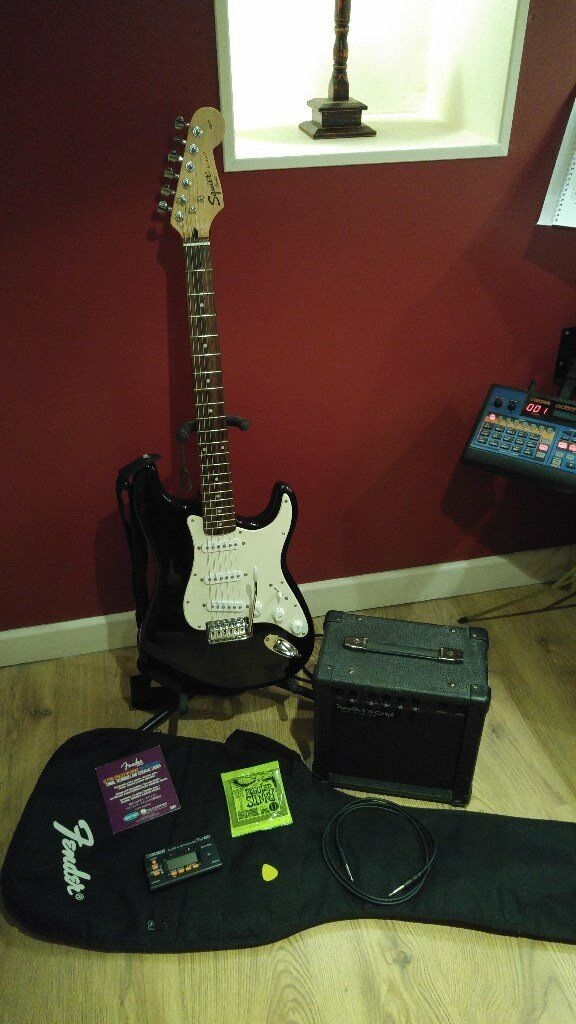 Fender Squire Affinity Electric Guitar, Amp and Accessories