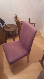 4 IKEA chairs (purple cover) very good condition