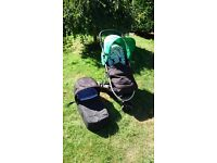 Mamas & Papas Luna Mix Buggy with Carrycot,Seat Liner, Rain Covers and Footmuff