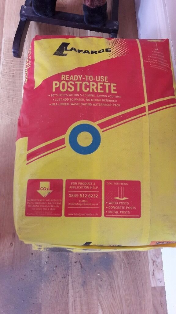 3 bags of post crete to secure fence postingin Rumney, CardiffGumtree - 3 bags of fence cement unopened. It is fence post cement. Pick up only