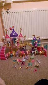 MY LITTLE PONY set (2castles,15ponies&accessories)