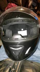 BLACK MOPED HELMET
