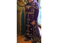 Anarkali Pakistani Indian short trail style dress