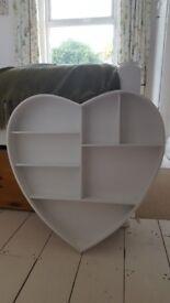 White heart shape shelf