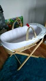 Moses basket baby bed cot