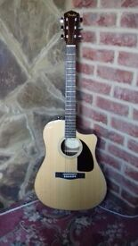 fender electro acoustic guitar with tuner in guitar beautiful sound brand new elixer strings ..