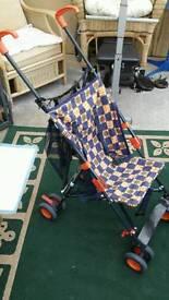 Tansad folding push chair brakes etc.like new condition