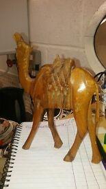 Wooden Camel Ornament