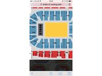 2 x seated drake tickets