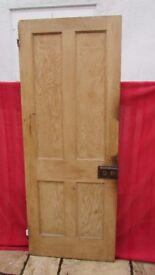 Genuine 1930`s Victorian style 4 panelled wooden door