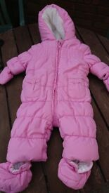 Mothercare baby outdoor suit