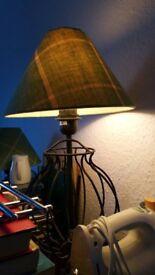 pair of side table lamps - black matt metal from Ikea