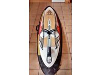Starboard Quad 71 Wood Windsurfing Wave board 2010 with board bag & spare set of quad fins