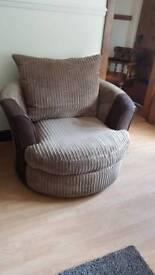 Swival sofa chair
