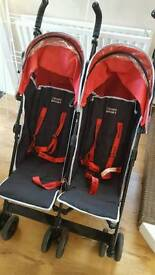 Oh-baby double pushchair
