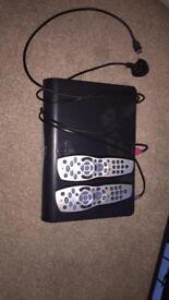 SKY+ box and 2 remote controls