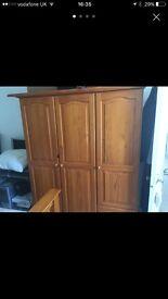 Beautiful bedroom wardrobes (pine)