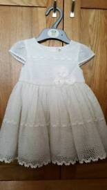 Mini B (BHS) Cream Corsage Dress. Age 6-9 months. Brand new with tags. RRP £26.