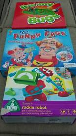 Barmy Bugs, ELC rockin robot & Mr Funny Face Game