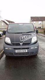 Vauxhall Vivaro 2.5 CDTi SWB Converted to Crew Van with Bulkhead