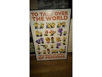 Minions framed poster