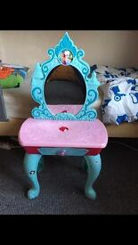 Girls Disney Frozen Dressing Table