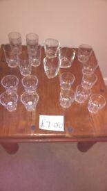 Glasses x 20