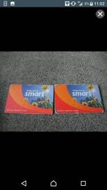 2 Stagecoach Smart bus cards