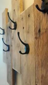 Rustic Pallet wood coat hangers hallway hooks
