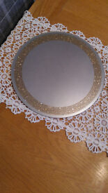 Mirror Candle plates / Chargers for Table decorations ( 11 off )