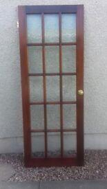 Internal hardwood 15 pane glazed doors (used)