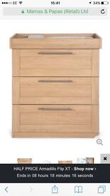Mamas and papas change table with drawers £70 (current rrp £329)