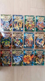 Beast Quest (Series 10 & 11) 12 Book Collection (with Trading Cards) - by Adam Blake, As New