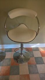 Beadle and Crome- As newcream leather look bar stools