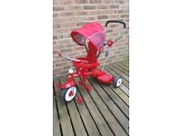 Radio flyer trike. 4 in 1 stroll and stand with adjustable parent handle and board.