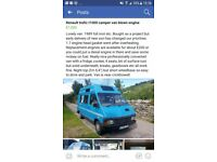 Lovely Camper with 12 months MOT head gasket gone