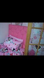 Pink diamanté single bed