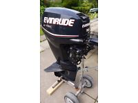 Evinrude Etec 30hp outboard motor engine tiller control short shaft 2013 40hrs immaculate