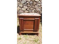 Vintage Retro French Bedside Table Cabinet - Chest Of Drawers Art Deco (15)