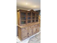 Large Solid Pine Sideboard Dresser/Display Cabinet Unit