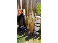 Full professional cricket batting kit & carry bag
