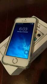 Iphone 5s 64gb white & gold vgc