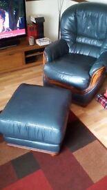 Leather Suite Italian 3 piece Jade