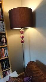 Purple glass ball floor lamp