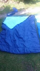 Double amd single sleeping bags
