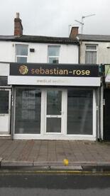 Shop premises. To Let.