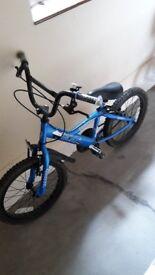 """Boys 16"""" blue bike"""