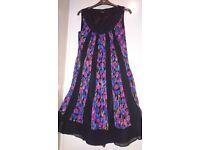 Beautiful Laura Ashley Silk Chiffon Dress Size 10