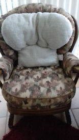 Fleece Armchair Back Rest - Lumbar Support Aid Cushion for comfort & to Relieve Pain (RRP £29.99)