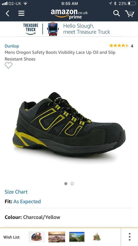 b1981ddaaf5 Dunlop Mens Oregon Safety Boots Visibility Lace Up Oil and Slip ...